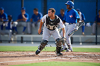 Pittsburgh Pirates catcher Yoel Gonzalez (25) during an Instructional League game against the Toronto Blue Jays on October 14, 2017 at the Englebert Complex in Dunedin, Florida.  (Mike Janes/Four Seam Images)