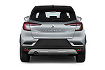 Straight rear view of 2021 Renault Captur Intense 5 Door SUV Rear View  stock images
