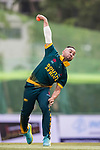Aubrey Swanepoel of South Africa bowls during Day 2 of Hong Kong Cricket World Sixes 2017 Cup final match between Pakistan vs South Africa  at Kowloon Cricket Club on 29 October 2017, in Hong Kong, China. Photo by Yu Chun Christopher Wong / Power Sport Images