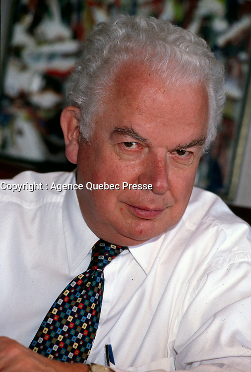 Montreal, CANADA, File Photo of Bernard Lamarre when he was President of SNC-Lavallin. circa 1999.<br /> <br /> Lamarre commented this February 2015 on the criminal fraud accusations against the company he founded.<br /> <br /> <br /> Photo : Agence Quebec Presse