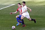 Atletico de Madrid's Filipe Luis (l) and Sevilla FC's Samir Nasri during La Liga match. March 19,2017. (ALTERPHOTOS/Acero)