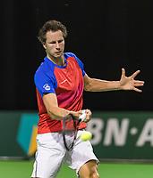 Rotterdam, Netherlands, 10 februari, 2018, Ahoy, Tennis, ABNAMROWTT,  Supermatch semifinal: Jasper Smit (NED)<br /> Photo: Henk Koster/tennisimages.com