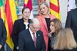Uxue Barkos, president os Navarra, and Cristina Cifuentes, president of Comunidad de Madrid at the meeting with the Presidents of 17 autonomous governments at the Senate in Madrid, January  17, 2017. (ALTERPHOTOS/Rodrigo Jimenez)