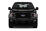 Car photography straight front view of a 2018 Ford F-150 XL-SuperCrew 4 Door Pickup Front View