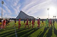 06.01.2018,  Football 1.Liga 2017/2018,  trainings camp of  Borussia Dortmund in Marbella in spain, pre season friendly, Fortuna Duesseldorf - Borussia Dortmund, Estadio Municipal in La Línea de la Concepción (Gibraltar). illustration, Felsen Gibraltar,  *** Local Caption *** © pixathlon<br /> <br /> +++ NED + SUI out !!! +++<br /> Contact: +49-40-22 63 02 60 , info@pixathlon.de