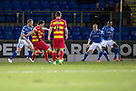 St Johnstone v Partick Thistle…02.03.16  SPFL McDiarmid Park, Perth<br />Callum Booth scores Particks first goal<br />Picture by Graeme Hart.<br />Copyright Perthshire Picture Agency<br />Tel: 01738 623350  Mobile: 07990 594431