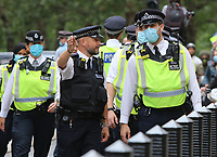 SEP 9 Police Officers wear Facemasks