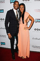 LOS ANGELES, CA, USA - NOVEMBER 18: J. August Richards, Kamani Sawyer arrive at the Los Angeles Premiere Of Bravo's 'Girlfriends' Guide to Divorce' held at the Ace Hotel on November 18, 2014 in Los Angeles, California, United States. (Photo by Celebrity Monitor)