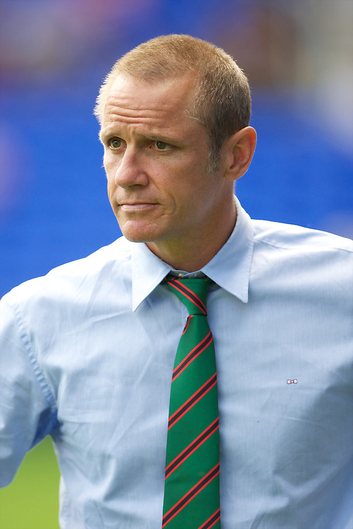 Brian Smith, London Irish Director of Rugby, during the Aviva Premiership match between London Irish and Gloucester Rugby at the Madejski Stadium on Saturday 8th September 2012 (Photo by Rob Munro)