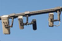 - cameras of Ecopass system, which controls the entrance fee of vehicles in the city downtown to limit the pollutiion damages....- telecamere del sistema Ecopass, che controlla l'ingresso a pagamento degli autoveicoli nel centro storico della città per limitare i danni dell'inquinamento