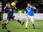 Dundee v St Johnstone…29.12.18…   Dens Park    SPFL<br />Tony Watt curls a shot wide<br />Picture by Graeme Hart. <br />Copyright Perthshire Picture Agency<br />Tel: 01738 623350  Mobile: 07990 594431