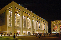 The COURTYARD and MAIN HALL of LINCOLN CENTER at night - NEW YORK CITY