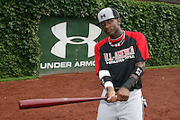 August 7, 2009:  Outfielder Trey Griffin (23) of the Baseball Factory team during the Under Armour All-America event at Wrigley Field in Chicago, IL.  Photo By Mike Janes/Four Seam Images