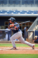 GCL Red Sox second baseman Rafael Oliveras (2) at bat during the second game of a doubleheader against the GCL Rays on August 4, 2015 at Charlotte Sports Park in Port Charlotte, Florida.  GCL Red Sox defeated the GCL Rays 2-1.  (Mike Janes/Four Seam Images)
