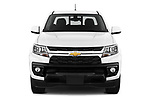 Car photography straight front view of a 2021 Chevrolet Colorado LT 4 Door Pick-up Front View