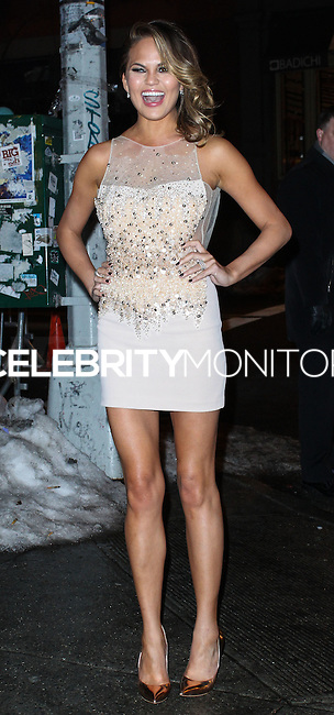 NEW YORK, NY - FEBRUARY 18: Chrissy Teigen at the Sports Illustrated Swimsuit 50th Anniversary Party held at Swimsuit Beach House on February 18, 2014 in New York City. (Photo by Jeffery Duran/Celebrity Monitor)