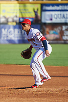 Harrisburg Senators first baseman Jose Marmolejos (3) during a game against the Bowie Baysox on May 16, 2017 at FNB Field in Harrisburg, Pennsylvania.  Bowie defeated Harrisburg 6-4.  (Mike Janes/Four Seam Images)