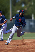 Cleveland Indians Willi Castro (2) during an instructional league game against the Milwaukee Brewers on October 8, 2015 at the Maryvale Baseball Complex in Maryvale, Arizona.  (Mike Janes/Four Seam Images)