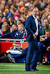 Danny Blind reacts after the Dutch National Soccer team failed to qualify for the Euro 2016 in France