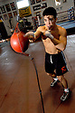 AJ Alexander - Olympic Gold Medalist Henry Cejundo is training in boxing as part of his Mix Martial Arts venture as a pro fighter, in Phoenix, Az. .Photo by AJ Alexander.