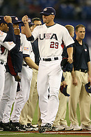 March 7, 2009:  Pitcher Matt Lindstrom (29) of Team USA during the first round of the World Baseball Classic at the Rogers Centre in Toronto, Ontario, Canada.  Team USA defeated Canada 6-5 in both teams opening game of the tournament.  Photo by:  Mike Janes/Four Seam Images