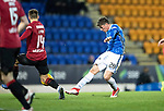St Johnstone v St Mirren….27.03.19   McDiarmid Park   SPFL<br />Ross Callachan's shot is blocked<br />Picture by Graeme Hart. <br />Copyright Perthshire Picture Agency<br />Tel: 01738 623350  Mobile: 07990 594431