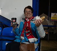 Fleetwood Town fan<br /> <br /> Photographer David Horton/CameraSport<br /> <br /> The EFL Sky Bet League One - Portsmouth v Fleetwood Town - Tuesday 10th March 2020 - Fratton Park - Portsmouth<br /> <br /> World Copyright © 2020 CameraSport. All rights reserved. 43 Linden Ave. Countesthorpe. Leicester. England. LE8 5PG - Tel: +44 (0) 116 277 4147 - admin@camerasport.com - www.camerasport.com