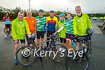Ready for their cycle for the Samartians and Kerry Hospice fundraiser at John Mitchels on Saturday morning, l to r: Jimmy Adams, Christy O'Connell, James and Donal Kelliher, Geraldine Stack, Helen Costello and Denis Sugrue all from Na Gaeil.