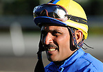 09 September 20: Jockey Richard Dos Ramos following the grade 1 Woodbine Mile Stakes for three year olds and upward at Woodbine Racetrack in Rexdale, Ontario.
