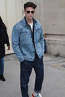 Baptiste Giabiconi - DÈfilÈ 'Chanel' au Grand Palais lors de la Fashion Week ‡ Paris, le 07/03/2017. # LES PEOPLE ARRIVENT AU DEFILE 'CHANEL' - FASHION WEEK DE PARIS