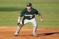 Michigan State Spartans Jeff Holm #27 during a game vs the Akron Zips at Chain of Lakes Park in Winter Haven, Florida;  March 12, 2011.  Michigan State defeated Akron 5-1.  Photo By Mike Janes/Four Seam Images