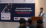 11 Feburary 2015, New Delhi, India: Priya Kamineni of Bond University introduces the winners of the India International Video Competition run by Austrade in conjunction with Cambridge English and major sponsors Singapore Airlines presented at the Australian High Commission, New Delhi.  Picture by Graham Crouch/Austrade