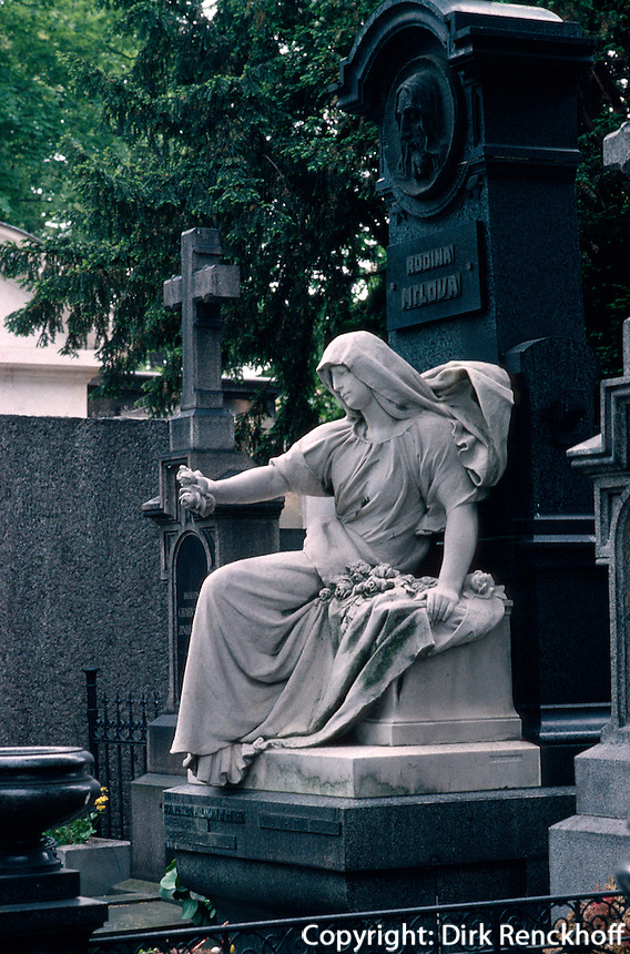Tschechien, Prag, Friedhof Vysehrad, Unesco-Weltkulturerbe