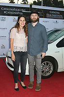 LOS ANGELES - SEP 25:  Andrew Ryan and guest at the Catalina Film Festival Drive Thru Red Carpet, Friday at the Scottish Rite Event Center on September 25, 2020 in Long Beach, CA