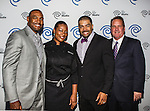 Darren Woodson, Tiffany Derry, David Otunga and John McKay at the Time Warner Media Cabletime Upfront media event held at the Private Social Restaurant  in Dallas, Texas.