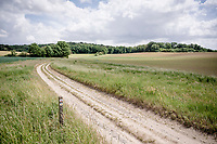 sand/gravel road  (near Manshoven in Heers)<br /> <br /> Limburg cycling hotspots<br /> Cycling In Flanders <br /> Flanders Tourist Board<br /> <br /> ©kramon