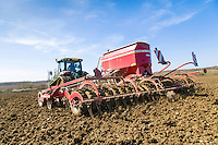 Drilling spring beans with RTK variable rate - Suffolk, April