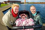 Enjoying a stroll in the Tralee Bay Wetlands on Tuesday, l to r: Sabrina O'Regan, Amber Greensmyth and Tanya O'Regan.