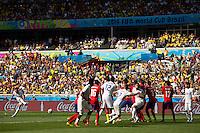 Frank Lampard of England takes a free kick