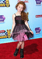 LOS ANGELES, CA, USA - APRIL 26: Francesca Capaldi at the 2014 Radio Disney Music Awards held at Nokia Theatre L.A. Live on April 26, 2014 in Los Angeles, California, United States. (Photo by Xavier Collin/Celebrity Monitor)