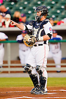 Tennessee Smokies catcher Michael Brenly #6 calls out a play during the first inning against the Jackson Generals at Smokies Park on April 12, 2012 in Kodak, Tennessee.  The Generals defeated the Smokies 4-1.  (Brian Westerholt/Four Seam Images)