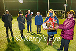 Phil Curran from Blennerville winner of the St Pats GAA Christmas Hamper presented by Nicola Hayes of the Tralee Equestrian Centre at the club on Monday night. Front: Phil Curran and Nicola Hayes. Back l to r: Dipo Dairo, Marie Fitzgibbon, Sean Daly and Jimmy Savage.