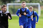 St Johnstone Training....   Jamie McCart pictured during training at McDiarmid Park ahead of Saturday's game against Rangers.<br />Picture by Graeme Hart.<br />Copyright Perthshire Picture Agency<br />Tel: 01738 623350  Mobile: 07990 594431