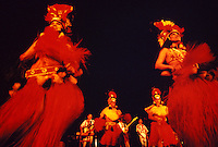 Tahitian dancers at the Royal Hawaiian Hotel luau polynesian revue