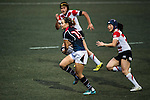 Jenny Colleen Tjosvold of Hong Kong (c) in action during the Womens Rugby World Cup 2017 Qualifier match between Hong Kong and Japan on December 17, 2016 in Hong Kong, Hong Kong. Photo by Marcio Rodrigo Machado / Power Sport Images