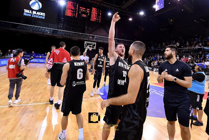 New Zealand Tall Blacks' Tom Vodanovich, FIBA World Cup Basketball Qualifier - NZ Tall Blacks v Syria at TSB Bank Arena, Wellington, New Zealand on Sunday 2 2018. <br /> Photo by Masanori Udagawa. <br /> www.photowellington.photoshelter.com