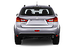 Straight rear view of 2015 Mitsubishi ASX Diamond Edition 5 Door SUV Rear View  stock images