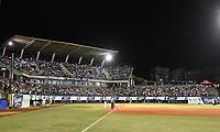 MONTERIA - COLOMBIA, 26-11-2019: Vaqueros de Montería y Caimanes de Barranquilla en el juego 4 de la serie 4 de la Liga Profesional de Béisbol Colombiano temporada 2019-2020 jugado en el estadio estadio Dieciocho de Junio de la ciudad de Montería. Victoria para Vaqueros por marcador de 6-4. / Vaqueros de Monteria and Caimanes de Barranquilla in match 4 series 4 as part Colombian Baseball Professional League season 2019-2020 played at Baseball Stadium on June 18 in Monteria city. Victory to Vaqueros by score of 6-4, Photo: VizzorImage / Andres Felipe Lopez / Cont