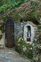Rustic Marian shrine in the town of Portofino.