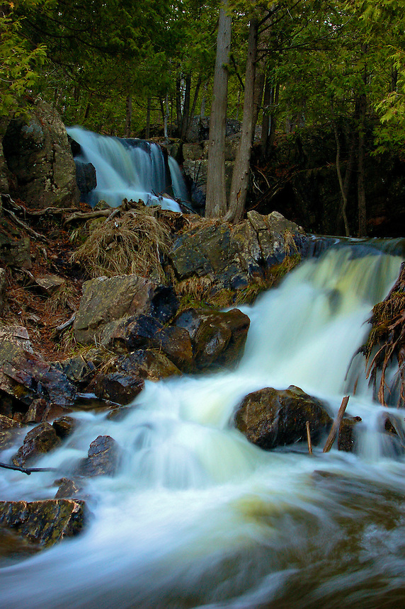 This splendid, multi-level waterfall is located near Quinnesec, MI.